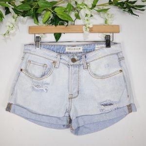 Pacsun Bullhead Light Wash Girlfriend Shorts 26